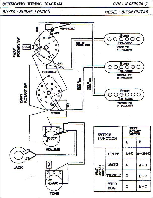Burns Guitar Wiring Diagram